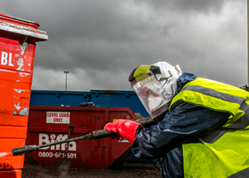 Second Hand Waste Containers Steam Cleaning Process