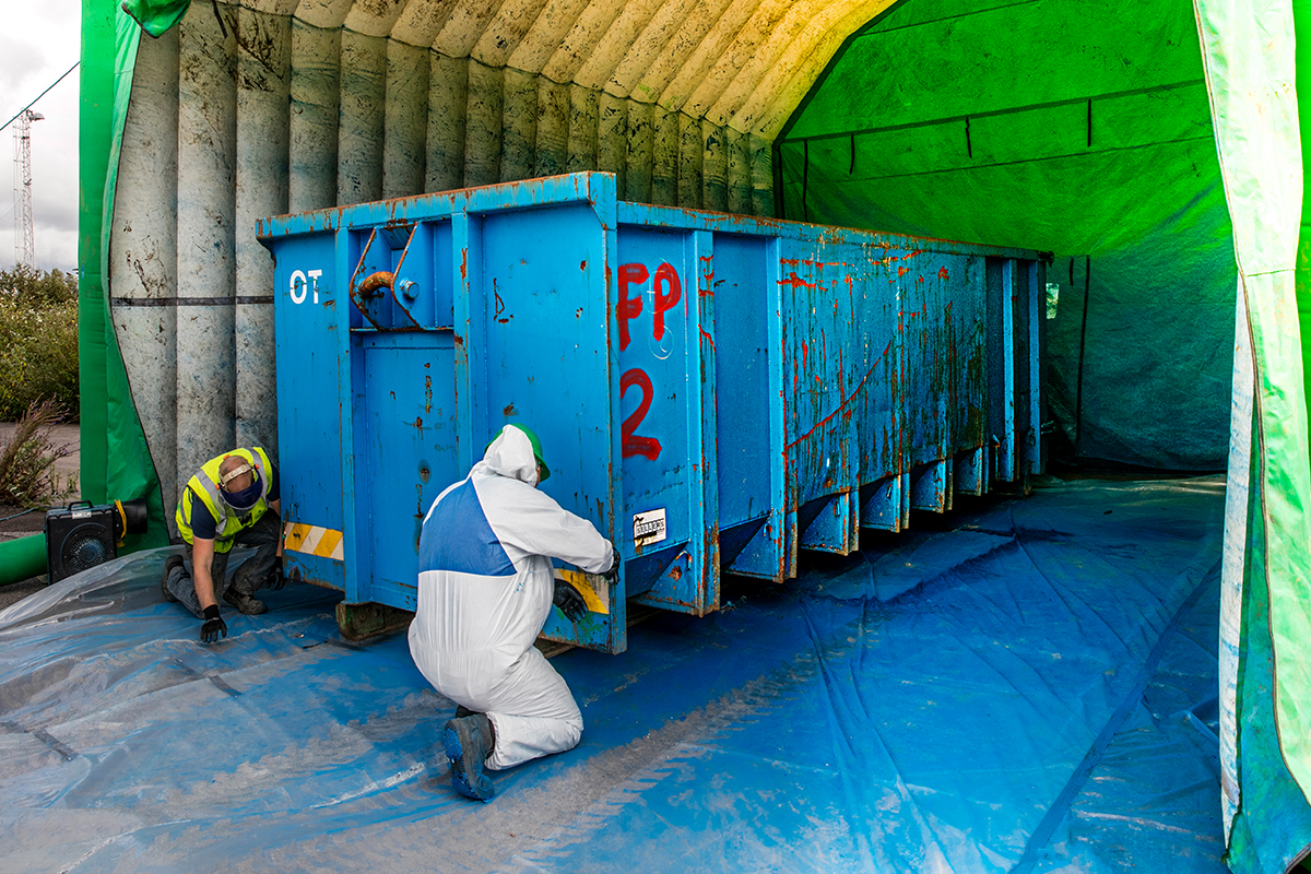Bulk RORO Prepping For Refurbishment